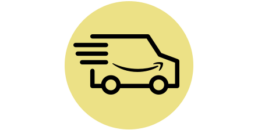 Fulfillment by Amazon setup and optimization delivery truck icon
