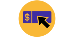 Pay-per-click Amazon marketing management icon